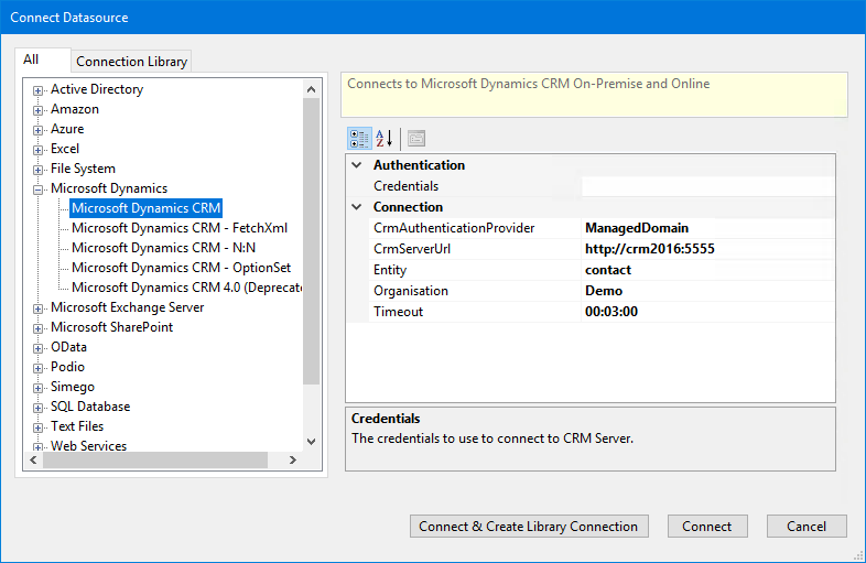 Connecting to Dynamics CRM Online