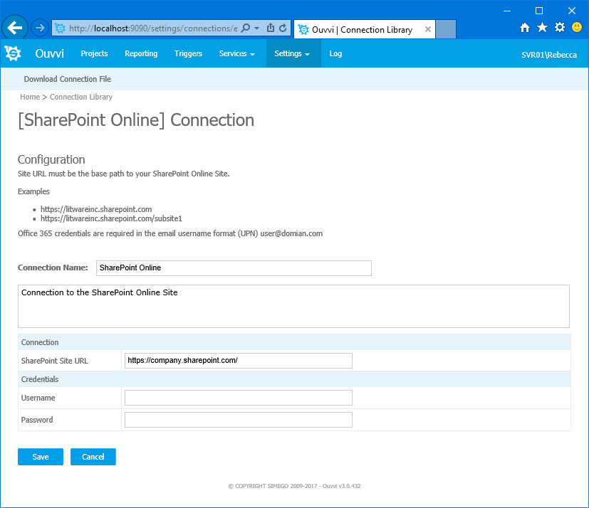 SharePoint Connection