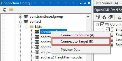 Connect to Target B