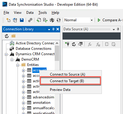 Connect to Data Source B