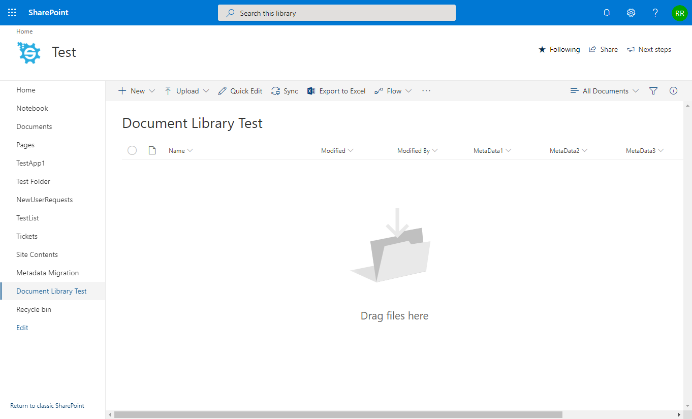 Empty Document Library