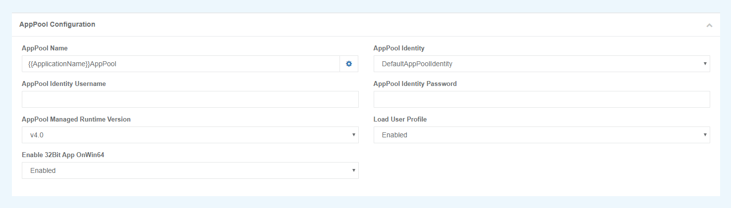 AppPool Configuration