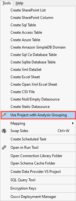 Analysis Grouping