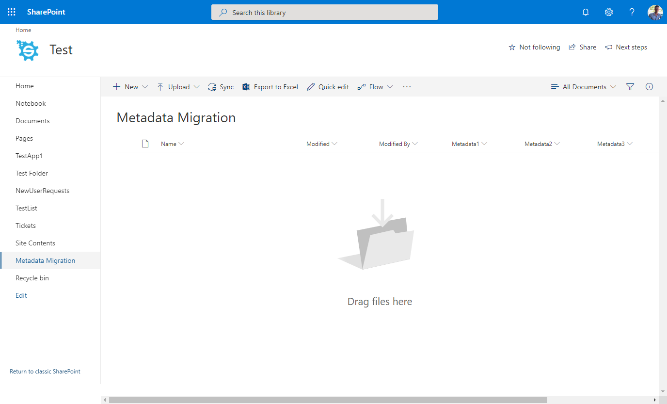 SharePoint final Destination